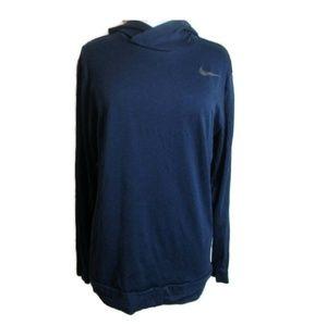 Nike Dri- Fit Blue Pullover Hoodie  Long Sleeve